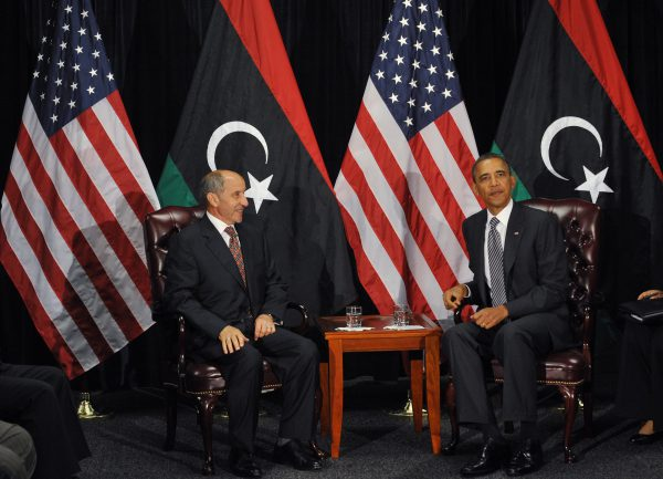 Première recontre entre Le chef du CNT et Barack Obama à New-York.