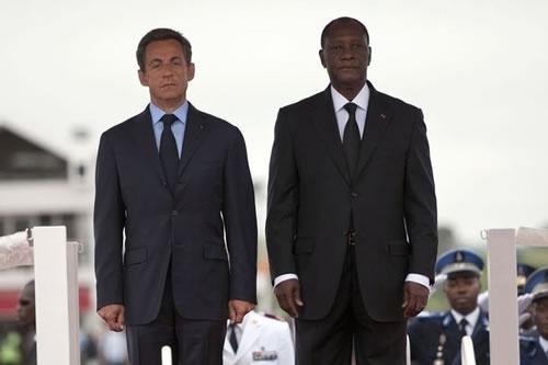 Alassane Ouattara en visite à Paris