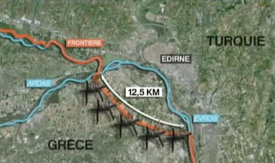 Turquie/Grèce : La construction d'une clôture à Evros est inutile