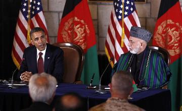 Obama, Karzaï et la coopération militaire après 2014