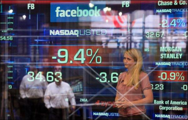 Bourse : Facebook poursuit sa descente aux enfers