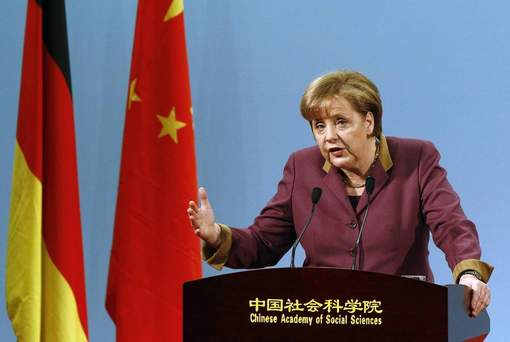Angela Merkel en route pour la Chine
