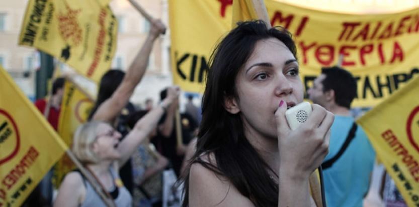 Grève générale en Grèce suite aux aides de la troïka
