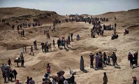Irak : Fuite des Yazidis vers le Kurdistan