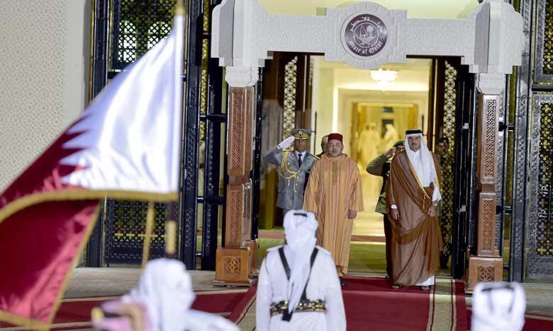 Entretien à Doha du roi Mohammed VI avec l'Emir du Qatar