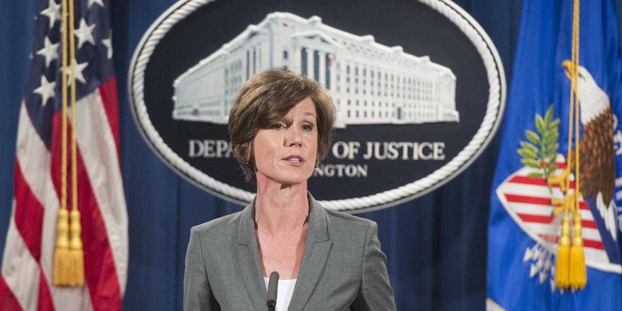 Etats-Unis : La ministre intérimaire de la Justice démise de ses fonctions