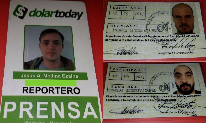 Trois journalistes arrêtés vendredi au Venezuela et libérés deux jours plus tard