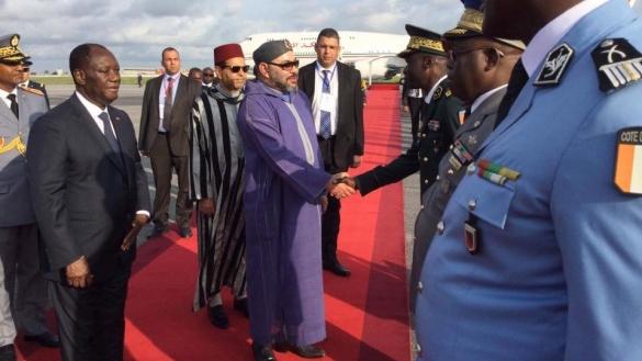 Le Roi du Maroc à Abidjan avant le début du Sommet UA-UE