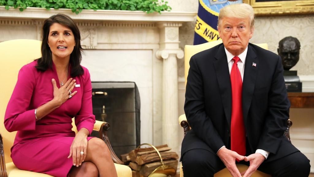 L'ambassadrice américaine à l'ONU, Nikki Haley rend le tablier