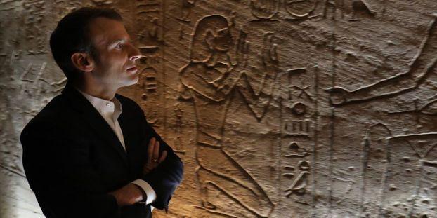 Le président français Emmanuel Macron en visite en Egypte