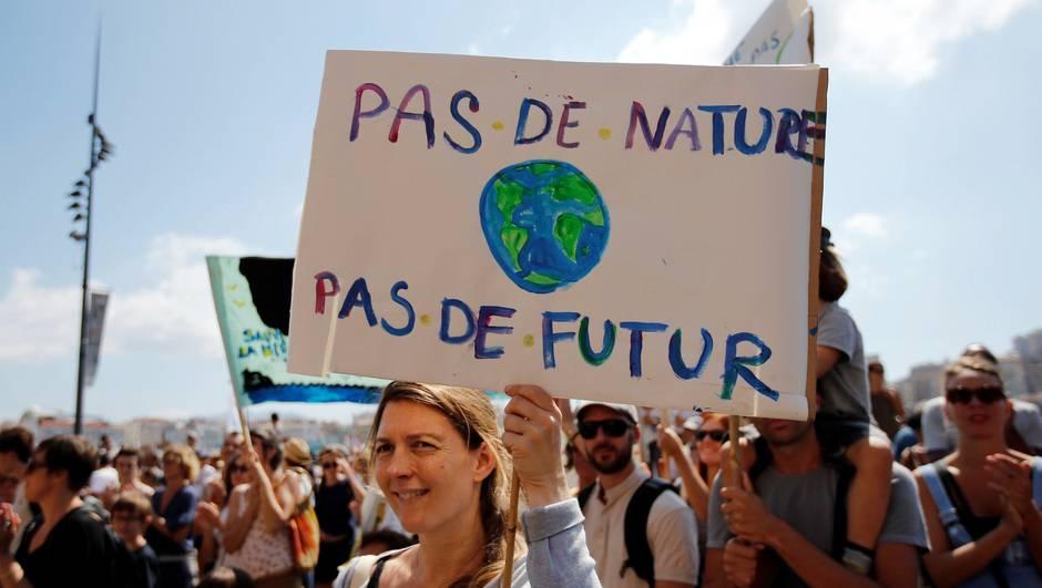 Mobilisation pour le climat en France et en Belgique