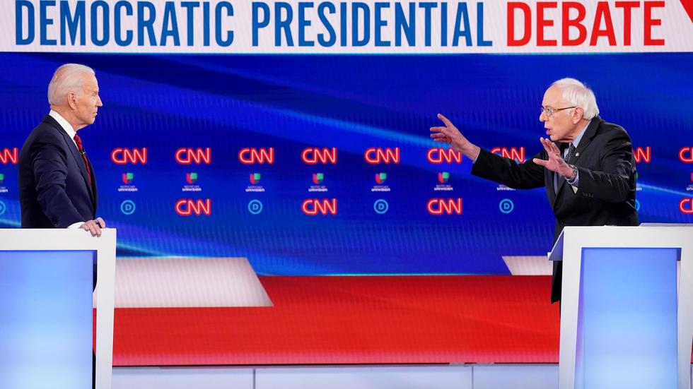 USA-Primaires démocrates : Le coronavirus domine le débat entre Biden et Sanders