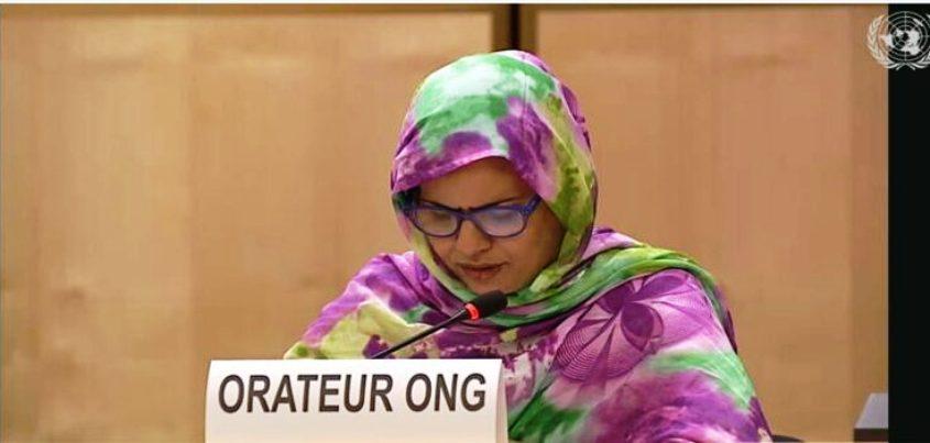Une activiste sahraouie dénonce devant le CDH à Genève, les disparitions forcées à Tindouf