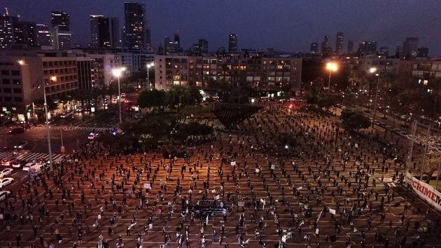Israël : Manifestation à Tel-Aviv pour «sauver la démocratie» en pleine crise de Covid-19