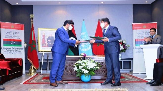 Dialogue inter-libyen: Signature à Bouznika des accords sur les critères d'attribution des postes de souveraineté