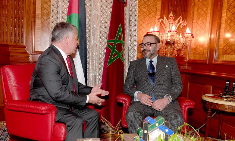 Le Roi Mohammed VI a appelé le Roi Abdallah II pour lui exprimer son Soutien