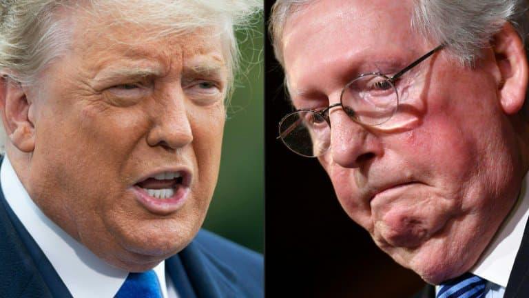 L'ex-président américain Donald Trump insulte le chef des républicains au Sénat